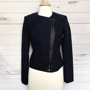 Mossimo Zip Front Jacket with Faux Leather Detail